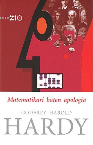 Matematikari baten apologia: 11 (ZIO - Zientzia Irakurle Ororentzat)