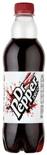 Dr Pepper Zero Pack Of 12x500ml Bottles