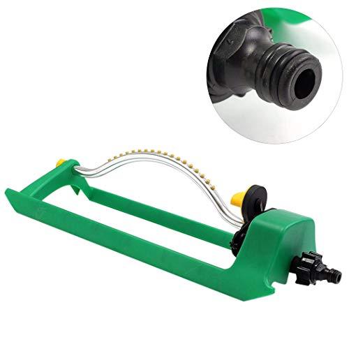 Preisvergleich Produktbild Fansport Oszillierender Sprinkler 16 LöCher Automatischer Swing Rasensprenger Wassersprenger