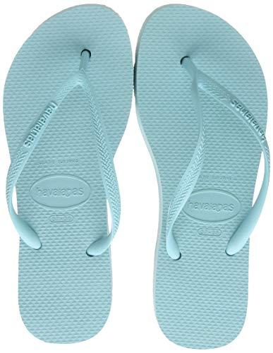 Havaianas Slim Flatform, Chanclas para Mujer, Azul Celeste, 33/34 EU