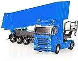 BHJH7 RC Car Dump Truck 1:32 Vehículo de ingeniería eléctrica Simulación Dump Car Toy Radio Control Tip Camión Auto Lift Engineering Container Vehicle Electronic Hobby Toy