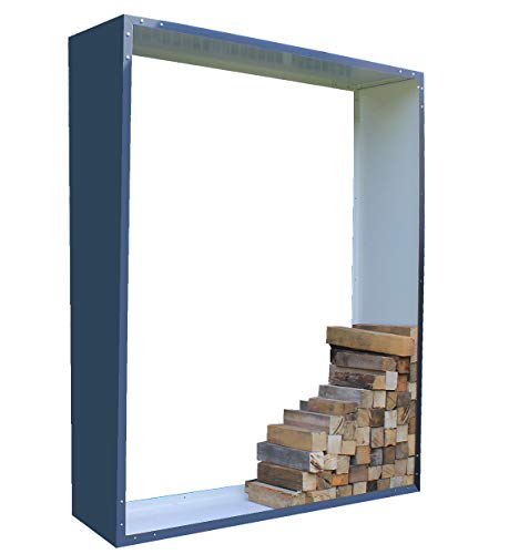 Palatino Exclusive Line brandhoutrek Woodpecker staal antraciet 100 x 180, diepte 40 cm