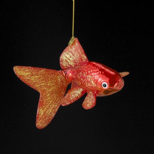 Noble Gems Kurt Adler Glass Goldfish Ornament, 5-Inch