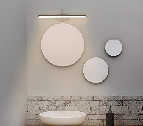 Trango 2244 Modern IP44 LED Spiegelleuchte Badleuchte 475mm lang mit Flexarm, schwenkbar und drehbar Schminklicht, Badezimmer Wandleuchte, Bilderleuchte 7 Watt 3000K warmweiß