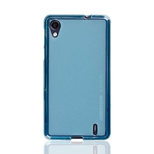 caseroxx TPU-Hülle & Bildschirmschutzfolie für Medion Life E4005 MD 99253, Set (TPU-Hülle in hellblau)
