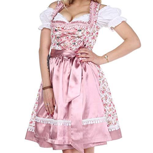 Lifos 0405 Trachtenkleid 3Tlg. Dirndl Oktoberfest - Gr.34 bis 46 (40 (Brust 94cm Taille 80cm))
