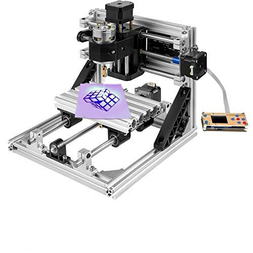 VEVOR Fresadora CNC 3018 Máquina de Grabado de 3 Ejes Fresadora Kit de Enrutador CNC 500mw Láser USB y Control Sin Conexión
