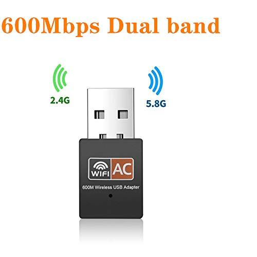 Astron USB WiFi Adapter 2.4Ghz / 5Ghz Dual Band Slim Wi-Fi Card Windows Mac PC Laptop