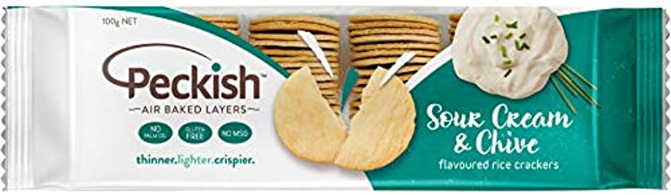 Peckish Thins Sour Cream and Chives Flavoured Rice Crackers 100 g, 100 g