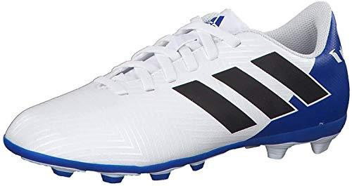 adidas Unisex Nemeziz Messi 18.4 FxG Fußballschuhe, Weiß (Ftwbla/Negbás/Fooblu 001), 37 1/3 EU