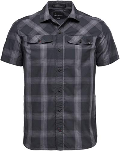 Black Diamond M SS Benchmark Shirt Chemise pour Homme L Noir/Anthracite (Black-Anthracite-Carbon)