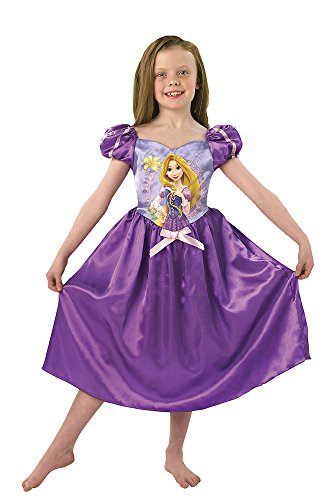 Princesas Disney - Disfraz de Rapunzel para niña, infantil 3-4 años (Rubie's 888798-S)