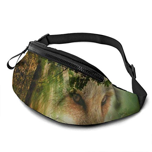 FengLiuAiShuaiGe Sac de Course Forest Fox Fanny Pack Fashion Waist Bag,