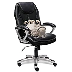 COMFORT MEETS PRECISION: Sleek office chair designed with gamers and programmers in mind ERGONOMIC SEAT AND LUMBAR SUPPORT: Customized to help reduce stress in back, neck and shoulders RACE-CAR-INSPIRED DESIGN: Leather upholstery with breathable mesh...