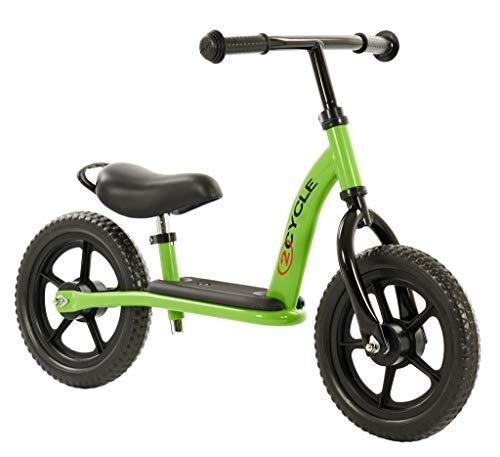2 Cycle Deluxe Laufrad, Lauffahrrad für Ihr Kind, Höhenverstellbar Lauflernrad, Kinderfahrrad für Jungen Mädchen Baby, Grün