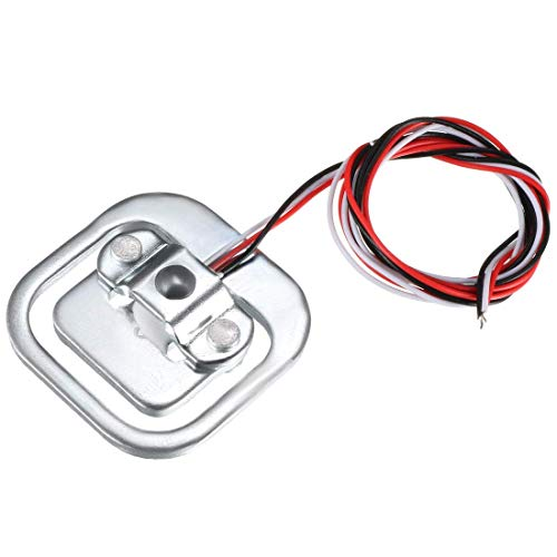 50 kg sensor de pesaje agujero de rosca media puente resistencia cepa cuerpo cuerpo pesaje célula de carga paquete de 1 para báscula de cocina, báscula de baño para cuerpo humano, báscula de joyas