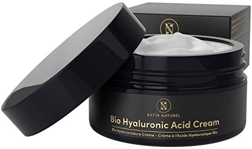 GANADOR 2019* Crema Facial de Acido Hialuronico ORGÁNICA Extra Grande 100ml - Cremas Faciales Antiarrugas para Mujer – Usar con un Serum Facial - Cosmetica Natural, Vegano - Productos para la Cara