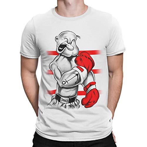 Camisetas La Colmena 213-Camiseta Popeye Ali (XXL, Blanco)