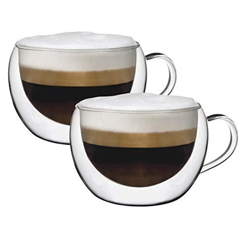 Voller Durchblick bei heißen Getränken – Elegantes Doppelwandglas mit 270 ml