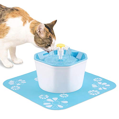 Shinea Pet Fountain Cat Water Fountain Dog Water Dispenser Cat Drinking Water Fountain Dog Water Bowl for Cats Dogs Kitties