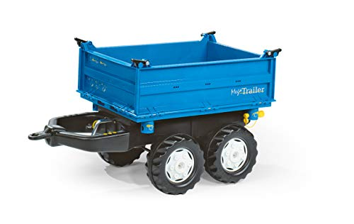Rolly Toys rolly Mega Trailer Traktoranhänger (für Kinder von 3 - 10 Jahre, Zweiachsanhänger, Dreiseitenkipper) 121106