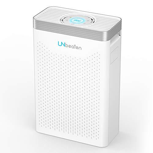 Purificador de Aire, Sensor LED Inteligente de Calidad del Aire, Habitación de 50m², Elimina el 99.97% de Polvo, HEPA Verdadero 5 en 1, Captura Alergias, Polvo, Humo, Caspa de Mascotas,Olor, PM2.5