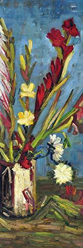 1art1 Vincent Van Gogh - Vase Mit Gladiolen, 1886 Poster Kunstdruck 158 x 53 cm