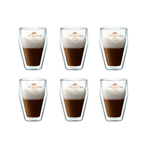BODUM - 10482-10-12 - TITLIS - Set 6 verres double paroi - empilables - 0,35 L