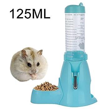 MOACC Distributeur d'eau pour Petits Animaux, Hamster, Cochon d'Inde, Lapin, Rat, Furet, Gerbille, Chinchilla, 125ml, Bleu