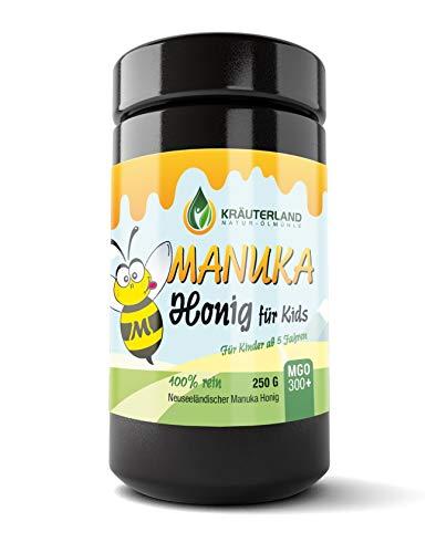 Kräuterland - Manuka Honig Kinder MGO 300+ 250g - 100% pur und frisch aus Neuseeland mit zertifiziertem Methylglyoxal Gehalt