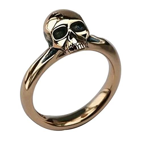 EzzySo Bagues de Crâne, Bijoux à Principales Populares Pour Hommes Métalliques, Accessoires, Cadeaux d'Anniversaire,11