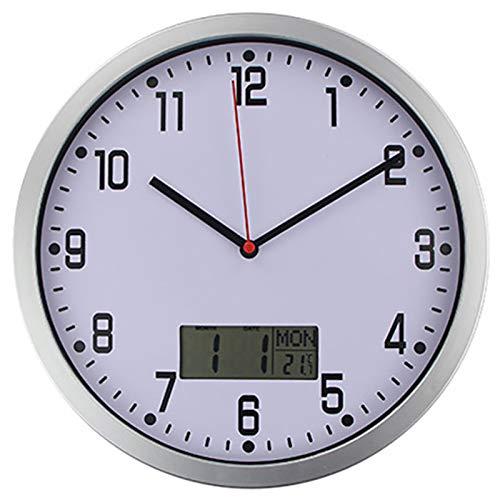 N /A Wall Clock Best Timelike Classic Temperature Display Wall Clock Modern Digital Clock Quartz Horloge