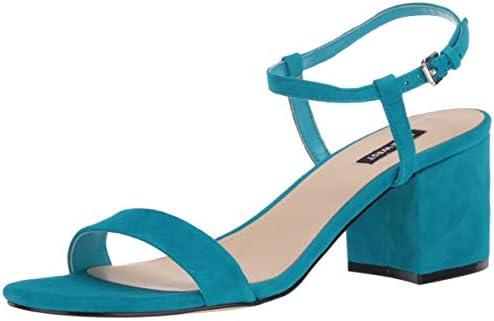 NINE WEST Women s Ankle Strap 2 Piece Sandal Heeled Medium Blue 8 5 product image
