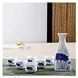 JHYS Set di Tazze da sakè in Ceramica Giapponese dipinte a Mano Confezione Regalo Artigianato Tradizionale Bicchieri da Vino Casa Boccale Bicchiere da liquore Bicchieri (Colore : Stile 7)