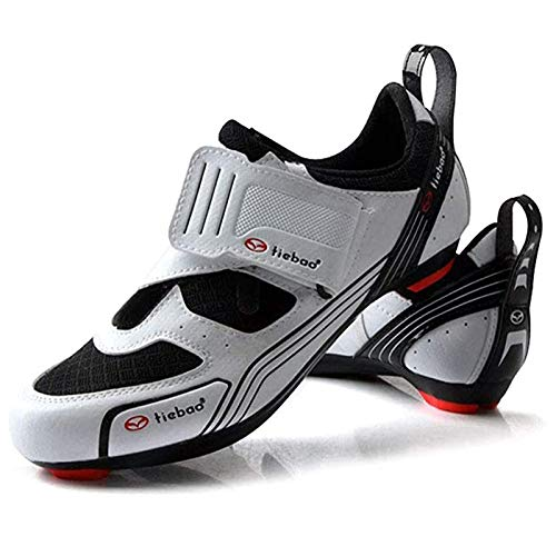 MILECN Calzado De Ciclismo para Hombre, Zapatillas De Bicicleta De Carretera MTB...