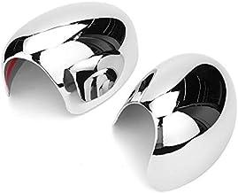 Security Accessory Cubiertas de Repuesto para Espejo de c 1 par Espejo retrovisor Lateral Cubierta de Las alas Espejo contempla el Caso de mayúsculas Decorativos for BMW Mini Cooper 2001-2006