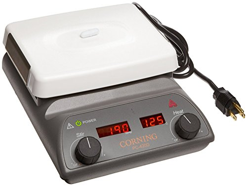 """Corning 6795-420D PC-420D Stirring Hot Plate with Digital Display and 5"""" x 7"""" Pyroceram Top, 5 to 550 Degree C, 120V/60Hz"""