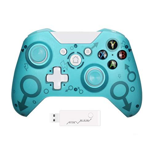 Lilon Mando inalámbrico Xbox One con adaptador inalámbrico de 2,4 GHZ compatible...