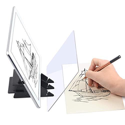 HOMPO Disegni ottici Tracciamento Schizzo Portatile Strumento di Pittura Animazione Copia Pad Nessuna Sovrapposizione Ombra Specchio Immagine Riflettore Proiettore Gioco a Base Zero