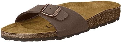Birkenstock Madrid, Zuecos unisex, color marrón, talla 42