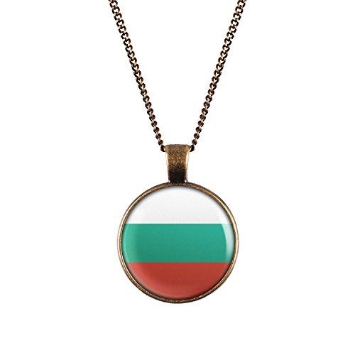 WeAreAwesome Bulgarien Flagge Halskette - Länderkette mit Fahne Anhänger Unisex Kette