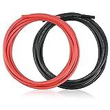 YOUKCDT 2 raíces 12 AWG Cable electrónico, 680 hilos de 0,08 mm, cable de silicona, color negro y rojo, 2,5 metros de largo, resistente a altas temperaturas, alambre de cobre para RC – Dron