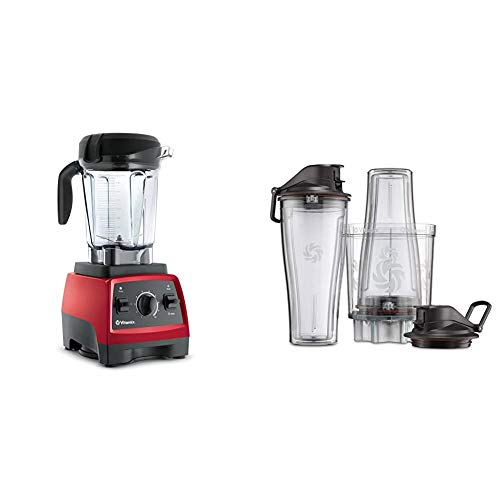 Vitamix, Red 7500 Blender, Professional-Grade, 64 oz. Low-Profile Container & Personal Cup Adapter - 61724