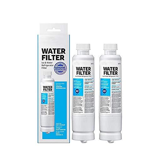 LNLJ Purificateur d'eau des Ménages Filtre À Eau Réfrigérateur Cartouche De Rechange Carbone pour Samsung Da29-00020B,2pcs