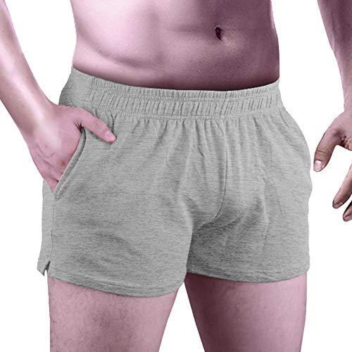 """Questo pantalone da bodybuilding da 3 """"è progettato con una lunghezza molto breve di circa 12"""", perfetto per lo sport tozzo, sollevamento pesi, corsa, atletica o qualsiasi allenamento in palestra o all'aperto. Il design a spacco laterale sull'apertur..."""