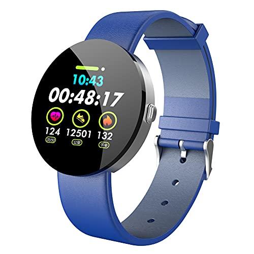 chebao, Reloj de seguimiento de actividad impermeable, Y11 Bluetooth IP67 impermeable monitor de ritmo cardíaco (azul)-256519.05