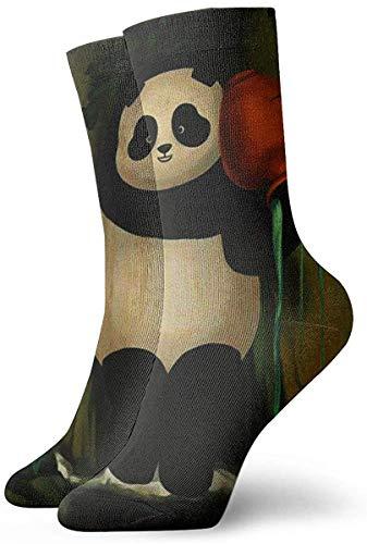 QUEMIN Atmungsaktive Sport-Crew-Socken für Herren und Damen Kessel Panda Kettle Kissen Crew-Socken Grundlegende sportliche Wicking-Arbeit für Männer und Frauen 30 cm