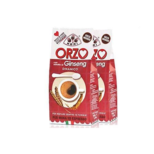 Tre Mori 2 Confezioni di ORZO al Ginseng 250 gr. - Ginseng - Ginseng Ginseng Moka - Ginseng Espresso - Ginseng d\'orzo