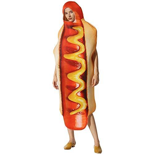 KLJJQAQ Halloween Prestatie Kostuum Voedsel Hot Hond Fancy Jurk Stage Props Kleding Fotografie Scènes