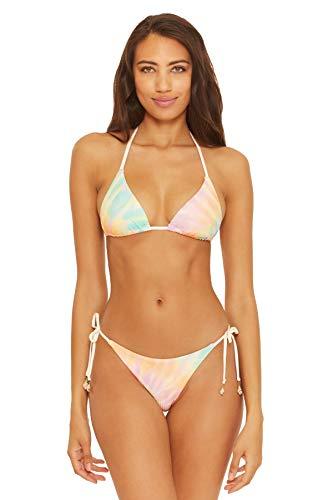 ISABELLA ROSE Women's Joni Tie Dye Sliding Triangle Bikini Top Multi D